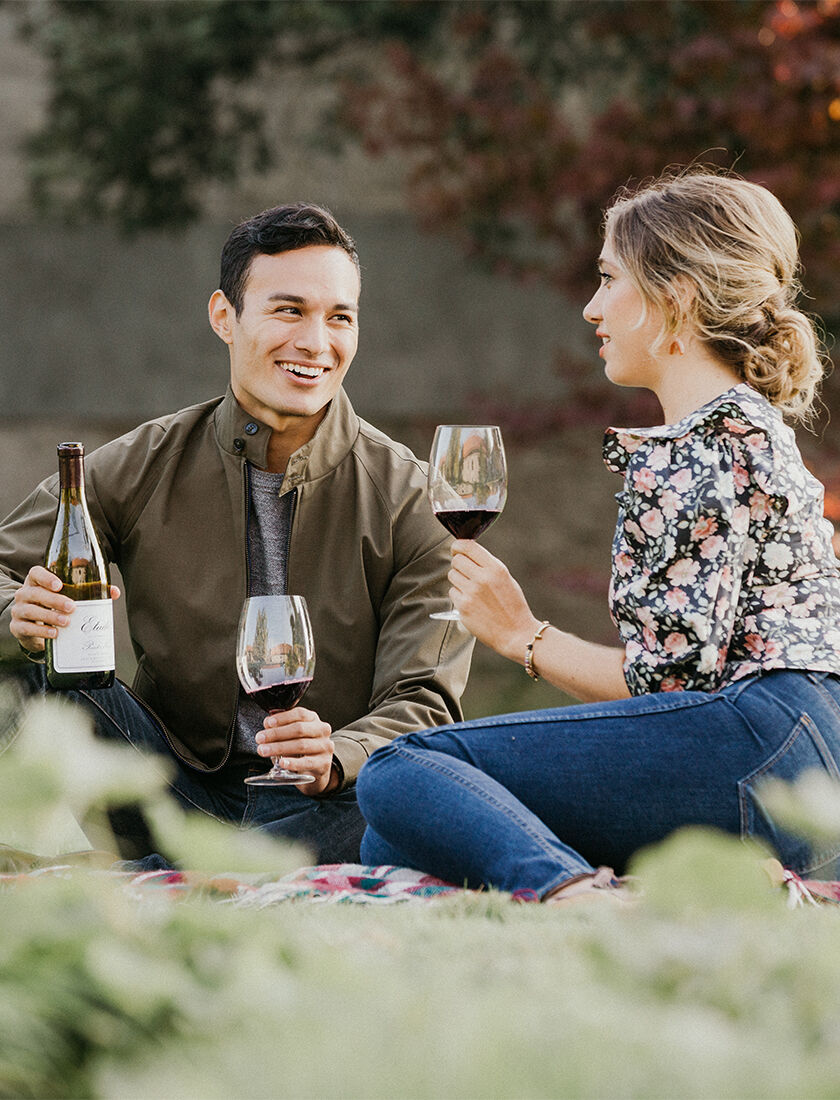 person enjoying a private tailored wine tasting