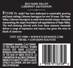 Etude 2013 Napa Valley Cabernet Sauvignon Back Label, image 3