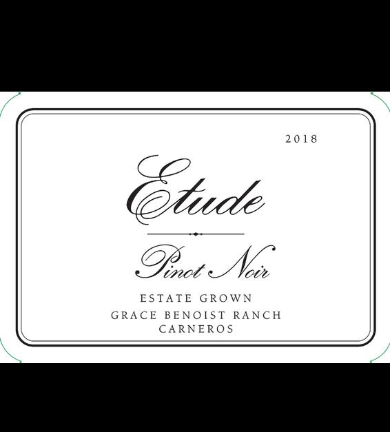 2018 Etude Carneros Estate Pinot Noir Front Label