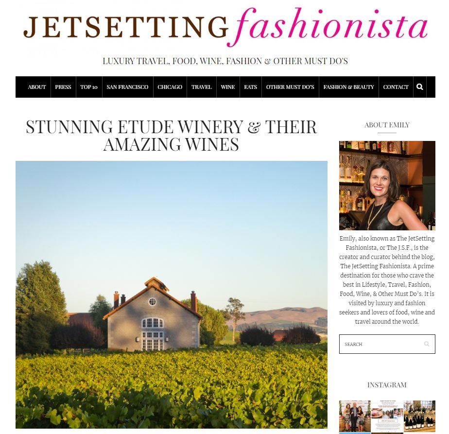 jet setting fashionista article on etude wines
