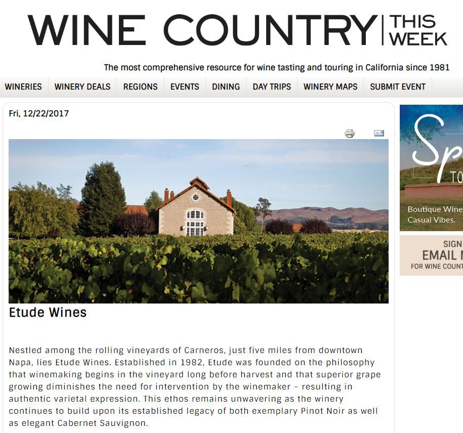 wine country this week article on etude wines